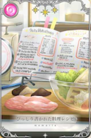 びっしり書かれた料理レシピ